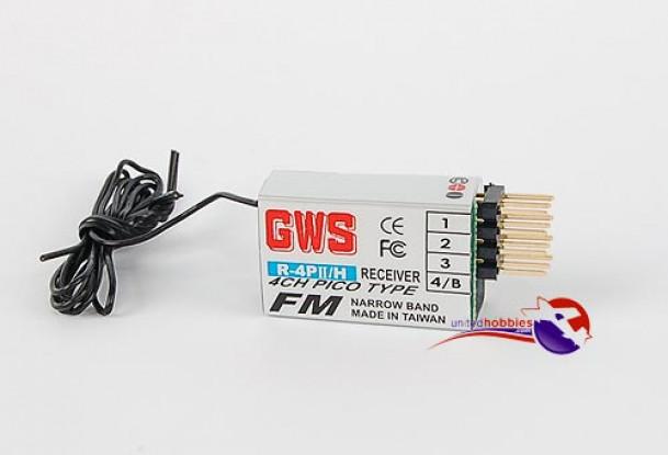 GWS R4 PII F 4Ch FM Pico Receiver 72mhz