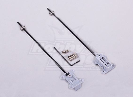 GWS Reinforced mini retract gear mount (PAIR)