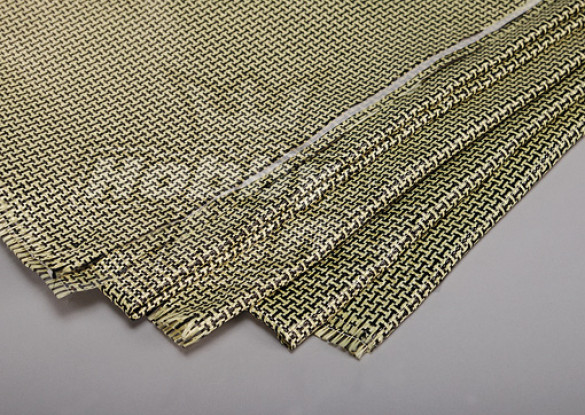 3K Carbon Fiber and Kevlar-29 Cloth (180g/m2)  - 1000mm x 500mm
