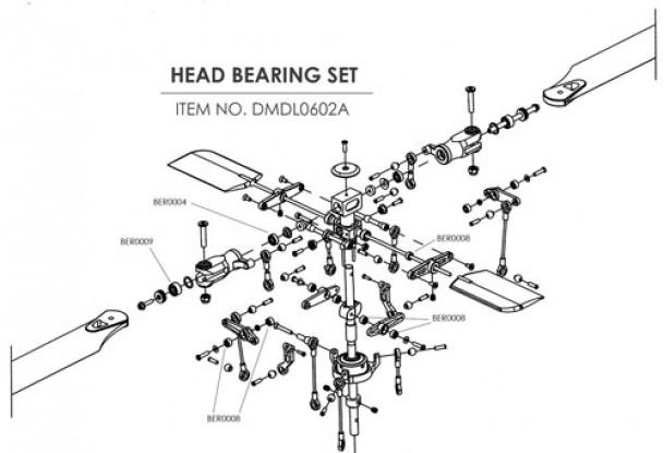 Ceramic bearing upgrade kit for HK-450 (Head)