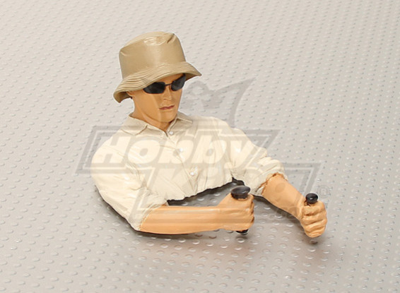 UltraDetail Scale Glider Pilot - Brown