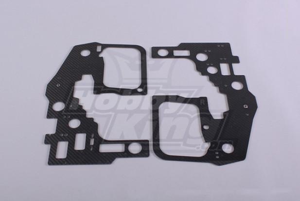 TZ-V2 .90-TT - Carbon Fiber Main Frame