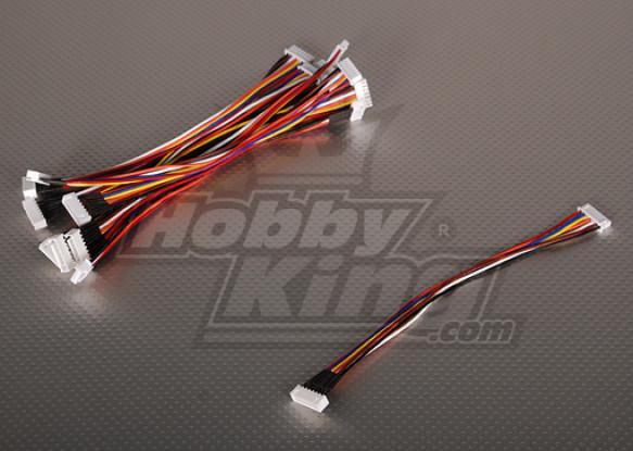JST-XH Wire Extension 6S 20cm (10pcs/bag)