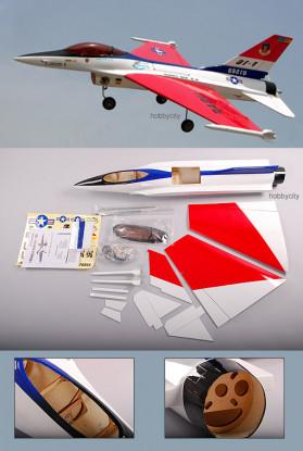F-16C Jet Fighter (ARF Pusher)