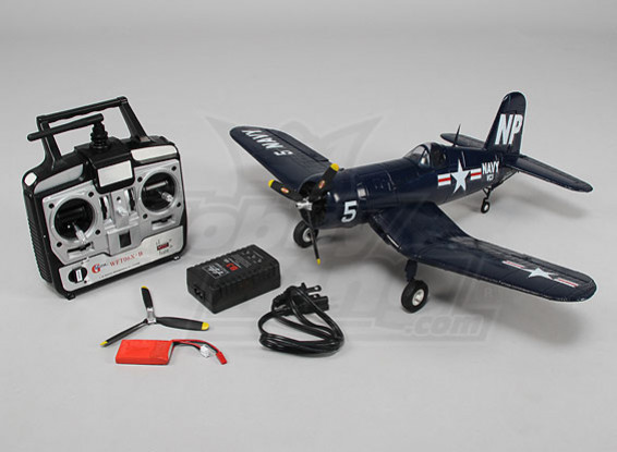 Micro F4U 5NL Corsair 550mm w/2.4ghz TX/RX, charger & lipo (RTF - Mode 2)
