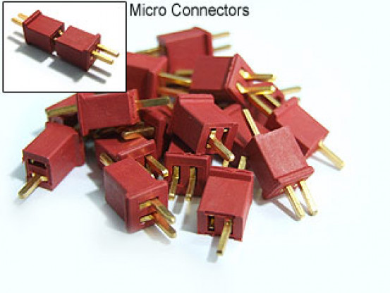 Micro T-Connector Style Polarised Connectors (10 pairs)