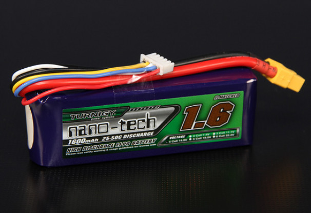Turnigy nano-tech 1600mah 4S 25~50C Lipo Pack
