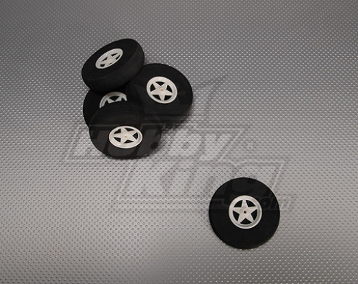 5 Spoke Wheels Shock Absorbing D75xH18mm (5pcs/bag)