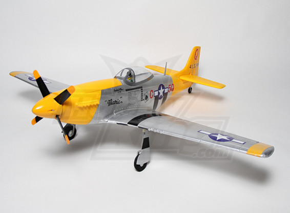 P-51D Mustang 1.2m EPO with Auto Canopy (P&P)