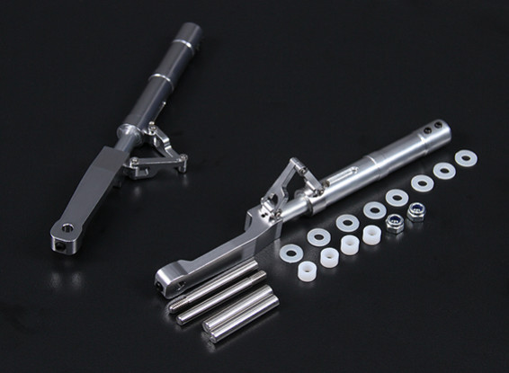 Alloy 140mm Offset Oleo Legs P-47 Style for 5mm Mounting Pin (2pc)