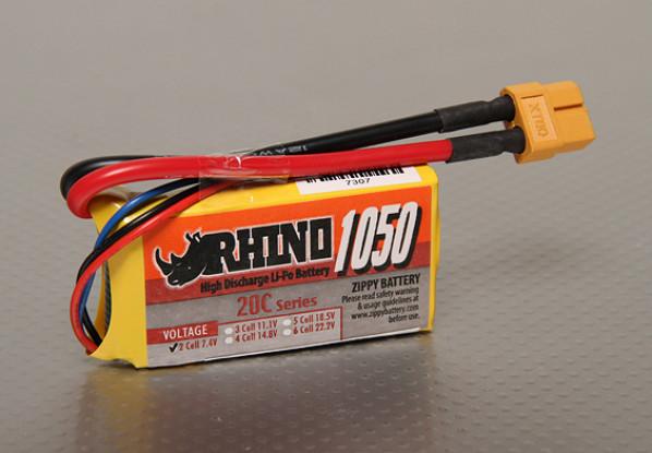 Rhino 1050mah 2S 7.4v 20C Lipoly Pack