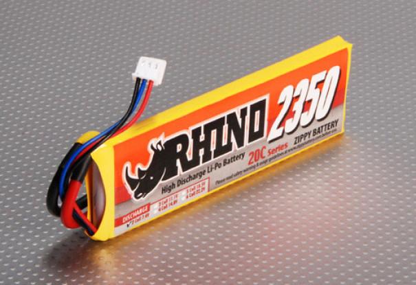 Rhino 2350mAh 2S1P 20C Lipoly Pack