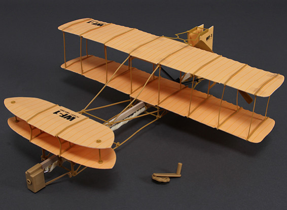 Rubber Band Powered Freeflight Wright Flyer 490mm Span