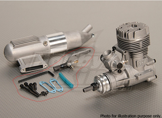 SCRATCH/DENT -  ASP S52A Two Stroke Glow Engine w/Remote HS Needle Valve