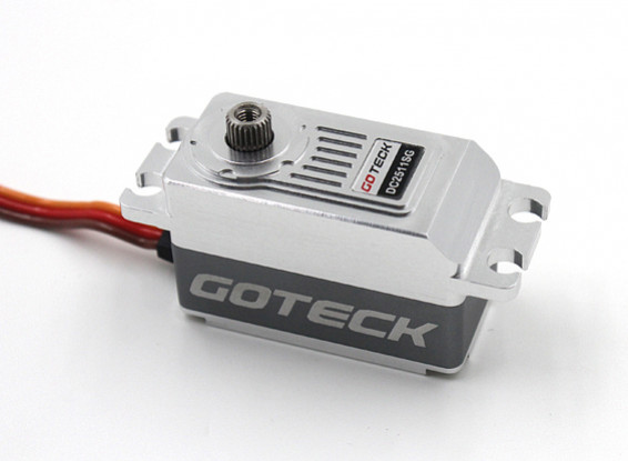 SCRATCH/DENT - Goteck DC2511S Digital MG Metal Cased Car Servo 62g/12kg/0.09sec