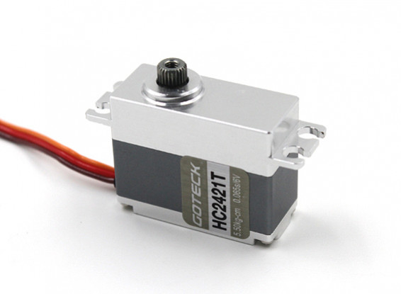 SCRATCH/DENT - Goteck HC2421T HV Digital MG Metal Cased Car Servo 35g/6.5kg/0.05sec