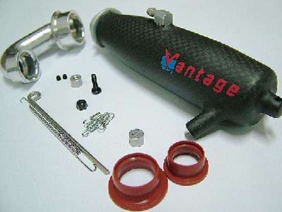 Carbon Fibre Pipe 1/10 FW-05R Rear Ex.
