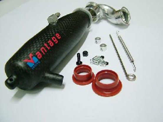 Carbon Fiber Pipe & header for 1/10 Left Ex.