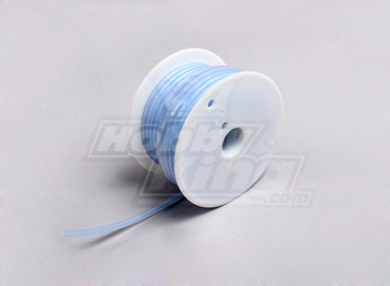 Silicon Fuel Pipe - Transparent Blue - 2.4x5.2mm (15meter)