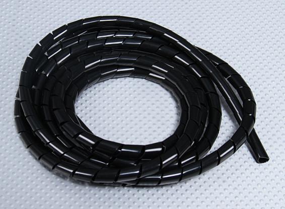Spiral wrap tube ID 9mm / OD 10mm (Black - 2m)