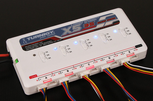 Turnigy X5 3S 5 port Lithium polymer Battery Charger