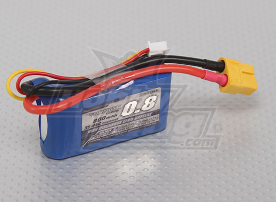 Turnigy 800mAh 2S 35C Lipo Pack