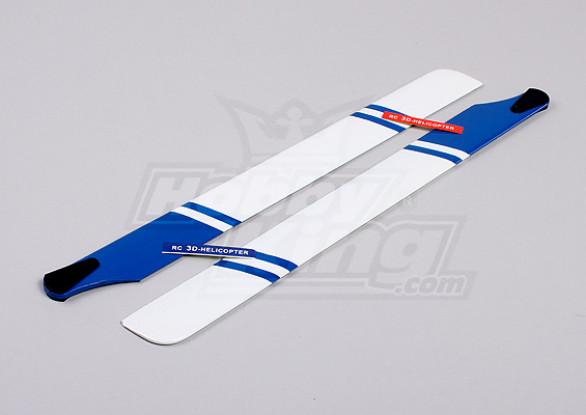 430mm Wooden Main Blades (Blue/White)
