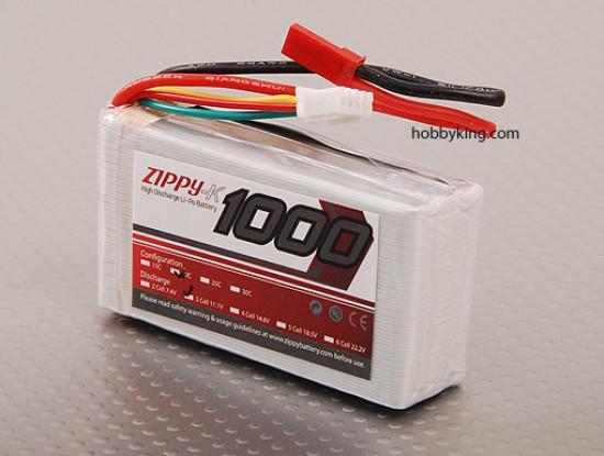 Zippy-K 1000 3S1P 20C Lipo pack