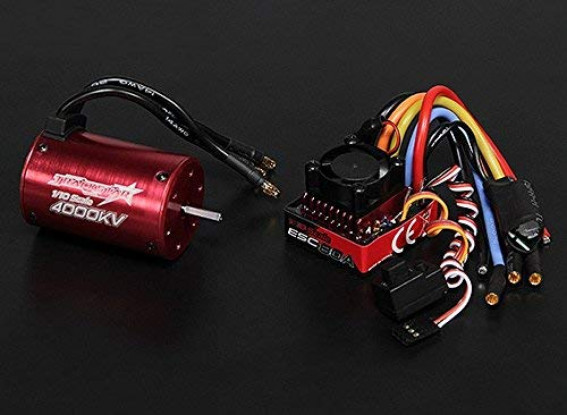 Turnigy TrackStar 4000KV/80A Waterproof 1/10 Brushless Power System