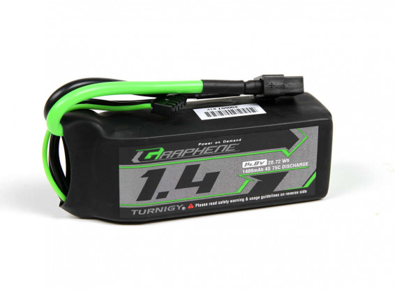 Turnigy-Graphene-Panther-1400mAh-4S-75C-Battery-Pack-w-XT60-9067000417-0
