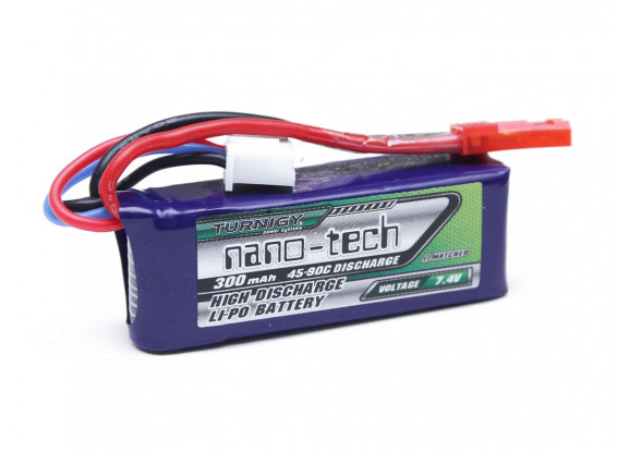 Turnigy-Nano-Tech-300mAh-2S-45-90C-LiPo-Pack-9210000082