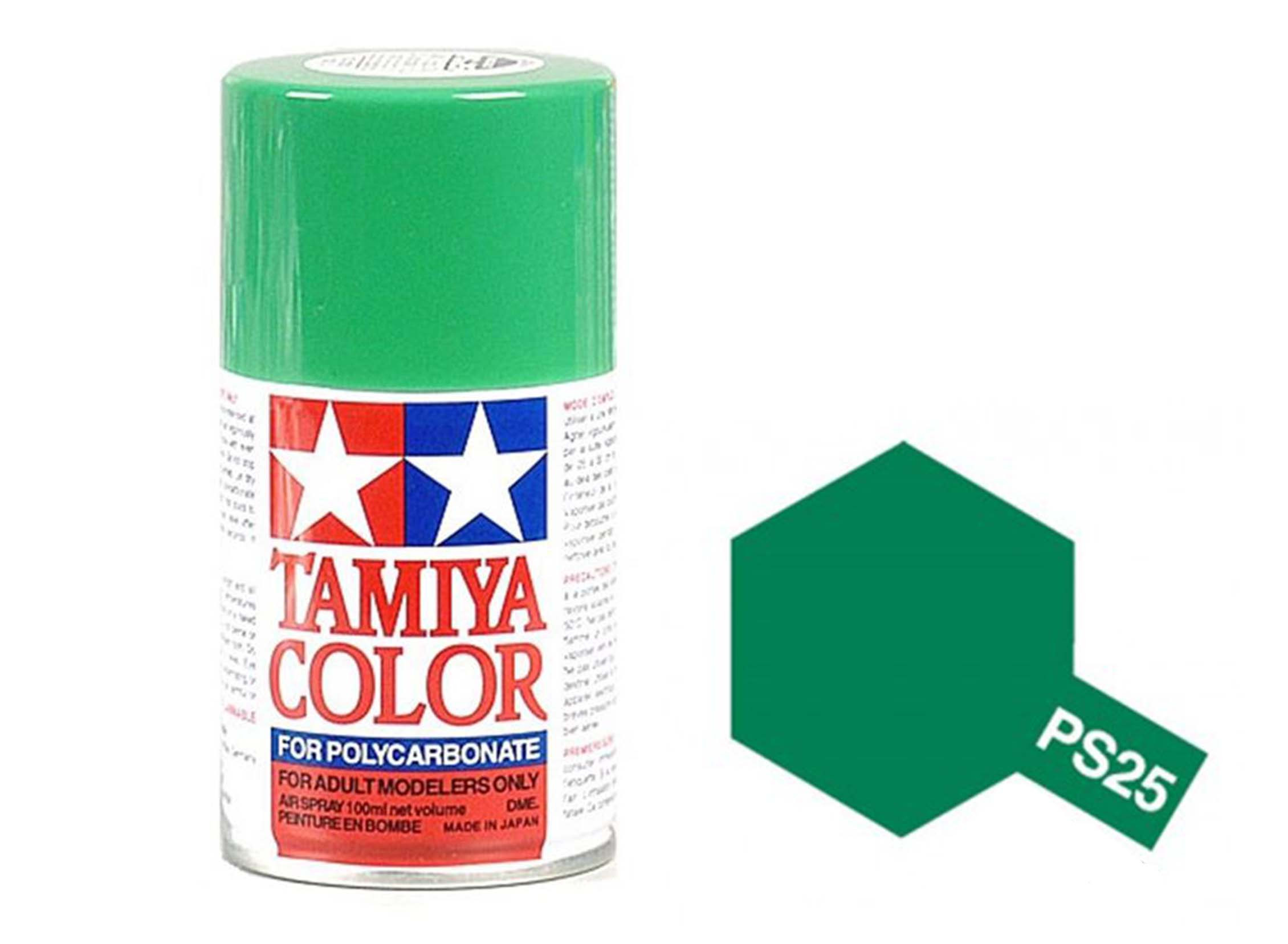 3eacc16302da4 Tamiya Color Paints for Polycarbonate PS-25 Bright Green Spray Paint (100ml)
