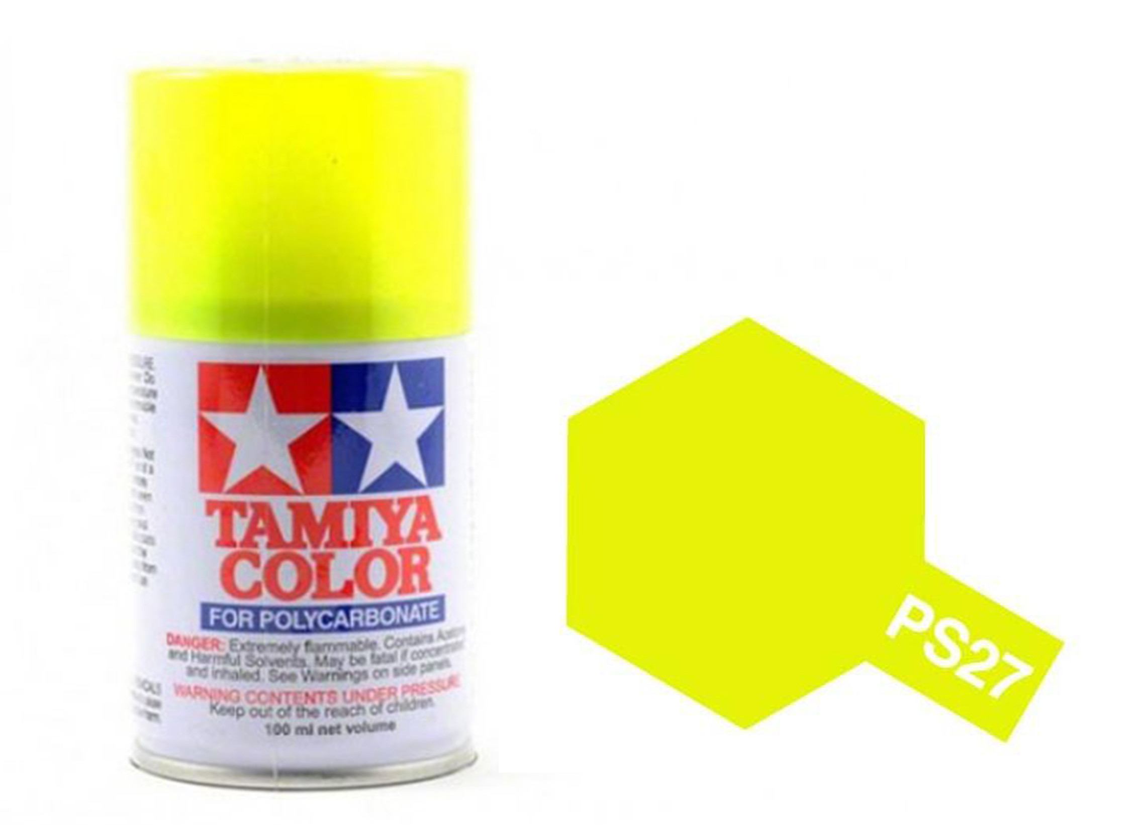 6322a521f5693 Tamiya Color Paints for Polycarbonate PS-27 Fluorescent Yellow Spray Paint  (100ml)