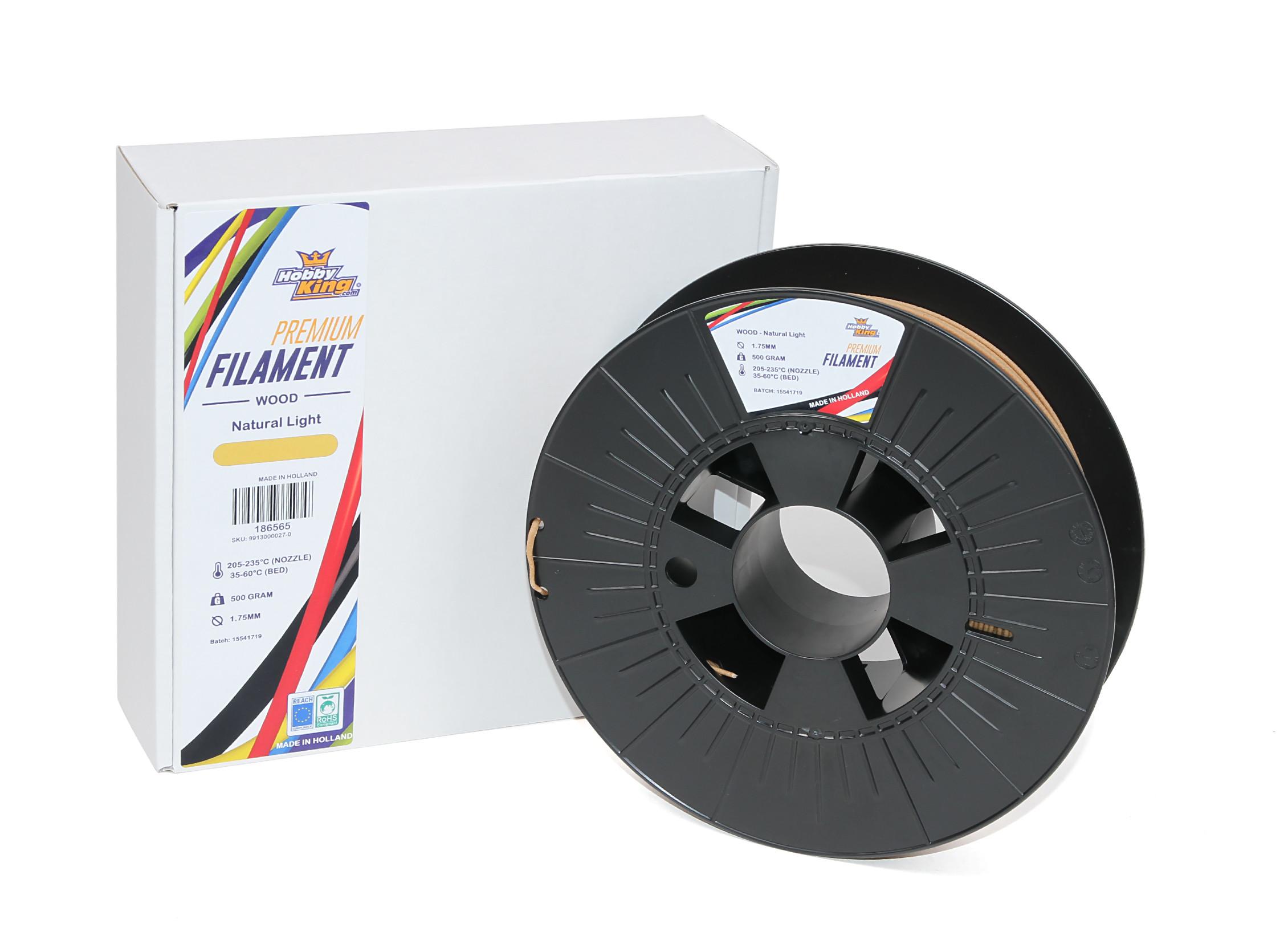 natural Dark Hk Premium 3d Printer Filament 1.75mm Wood 500g Spool Computers/tablets & Networking 3d Printers & Supplies