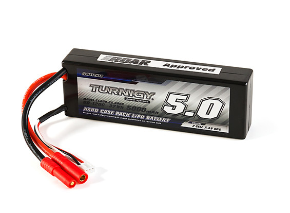 2 HXT 2S Hardcase Lipo Battery Harness with 4mm bullet connector Fits Turnigy