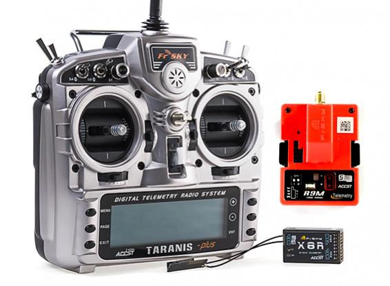 FrSky 2 4GHz ACCST TARANIS X9D/X8R PLUS Telemetry Radio System (Mode 2)  (EU) w/R9M Module