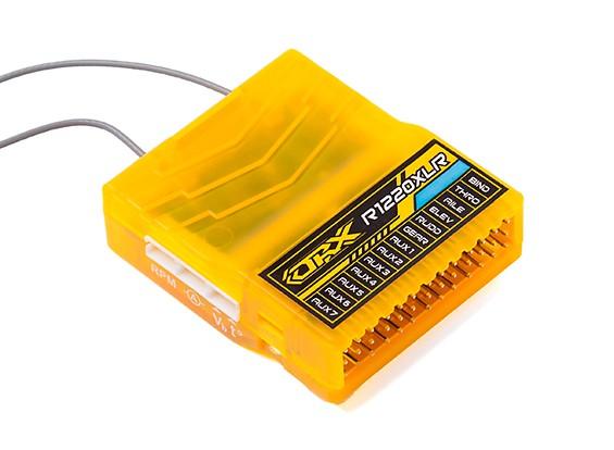 OrangeRx R1220XLR 12Ch 2 4GHz DSM2/DSMX Compatible Long Range Rx w/Div Ant,  F/Safe & S Bus