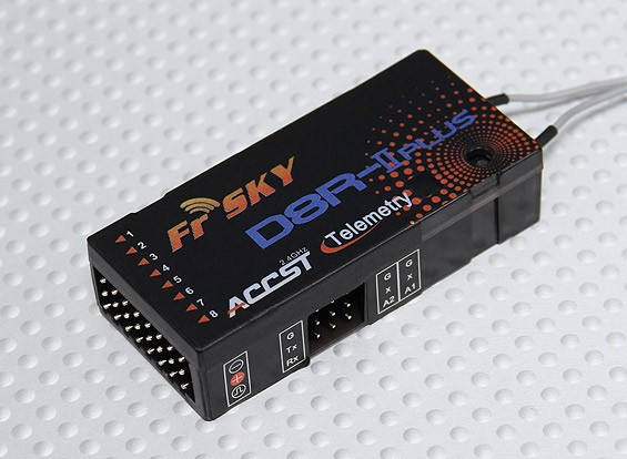 FrSky D8R-II PLUS 2 4GHz 8CH Receiver with Telemetery
