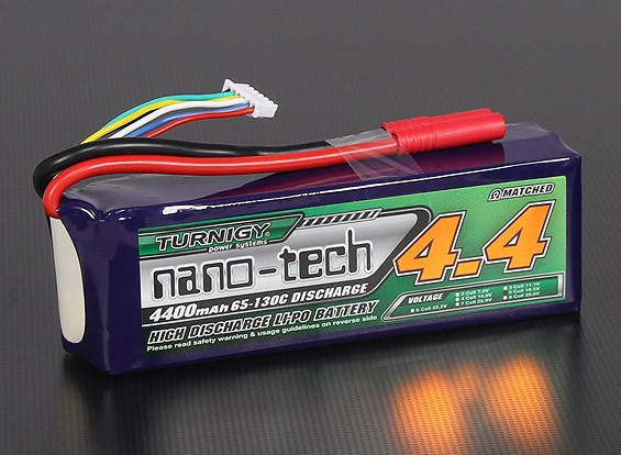 Turnigy nano-tech 4400mah 5S 65~130C Lipo Pack