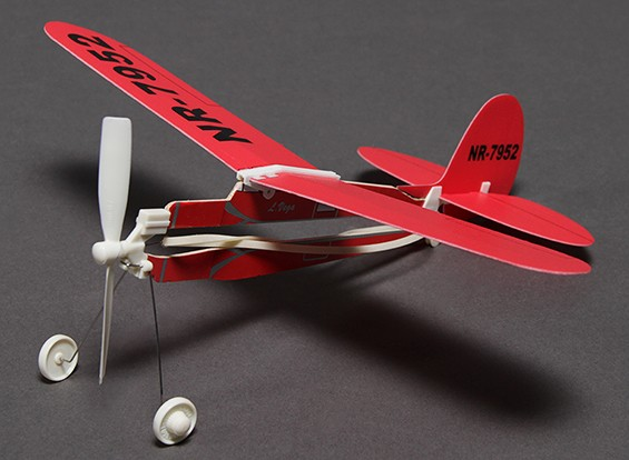 Rubber Band Powered Freeflight L Vega Airplane 291mm Span