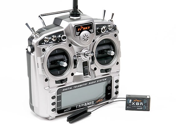 FrSky 2 4GHz ACCST TARANIS X9D PLUS and X8R Combo Digital Telemetry Radio  System (Mode 1)