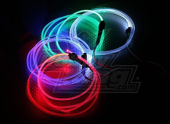 Fiber Optic Lights For Night Flying Blue