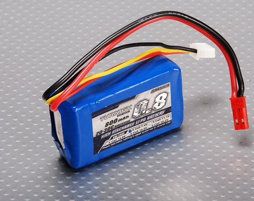 TURNIGY 800mah 2s 20c LiPo-Pack PARKZONE pkz1032 supportati m125