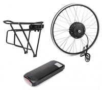 """E-Bike Conversion Kit for 26"""" Bikes (PAS Front Wheel Drive) (36V/11A)  (US Plug)"""
