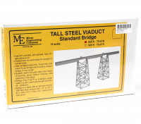 Micro Engineering N Scale 200ft Tall Steel Viaduct Standard Bridge Kit (75-518)