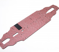Blaze 1/10 Spare Parts - 4WD Color Fiber Chassis 2.5mm (Red) 128511