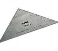 """Zona Precision 3"""" Stainless Steel Triangle Ruler"""