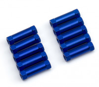 Lightweight Aluminium Round Section Spacer M3x13mm (Blue) (10pcs)