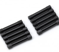 Lightweight Aluminium Round Section Spacer M3x30mm (Black) (10pcs)