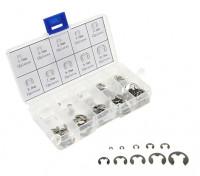 Assorted E-Clips in Plastic Box (120pcs)